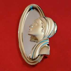 Vintage Mirrored Flapoer brooch